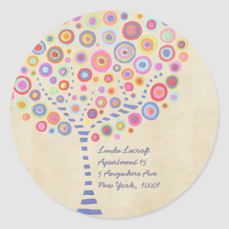 Return Address Candy Retro Tree Label Sticker