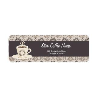 Return Address Coffee House Label