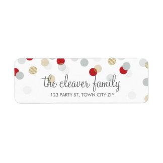 RETURN ADDRESS cute confetti polka dot colorful Return Address Label