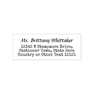 Return Address Cute Vintage Typewriter Look Simple Rubber Stamp