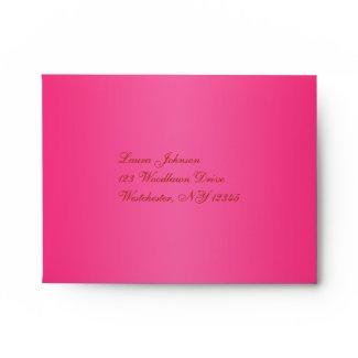 Return Address Envelope for Reply Card envelope