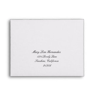 Return Address Envelope for RSVP
