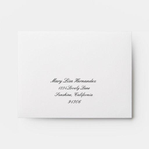 Return Address Envelope for RSVP