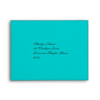 Return Address Envelope for RSVP Card envelope