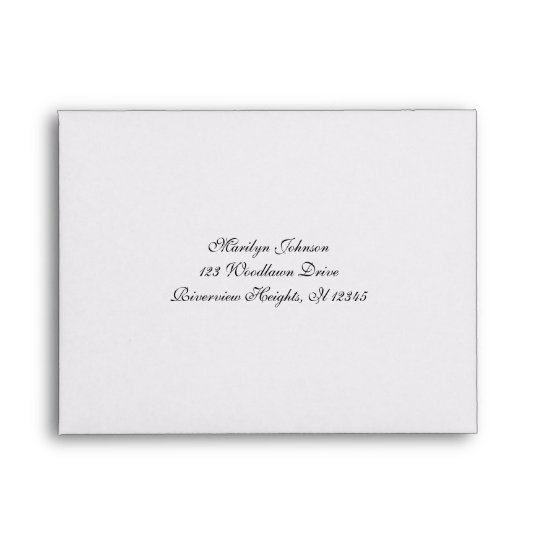 Return Address Envelope For RSVP Card