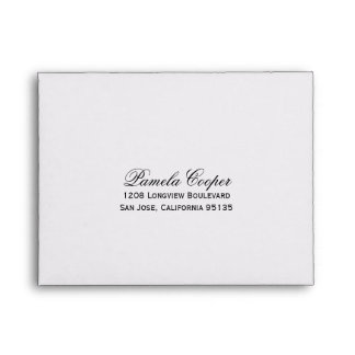 Return Address for RSVP Envelope