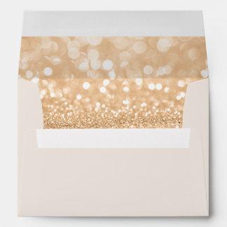 Return Address & Glitter Liners Ivory Envelope