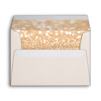 Return Address & Glitter Liners Ivory Envelope
