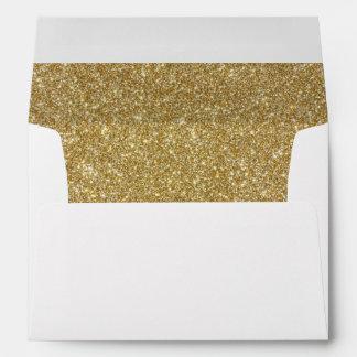 Return Address & Glitter Liners Wedding Envelope