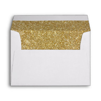 Return Address & Glitter Liners Wedding Envelope