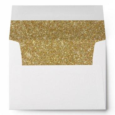 purplepaperinvites Return Address & Glitter Liners Wedding Envelope