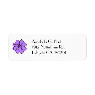 return address label,#191 purple  bow label