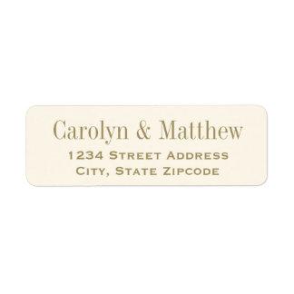 Return Address Label | Antique Gold