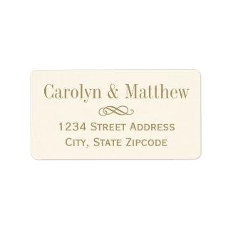 Return Address Label | Antique Gold Scroll