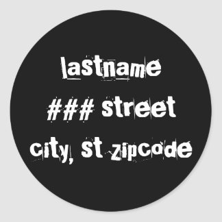 return address label classic round sticker