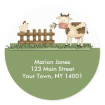 Return Address Label Home Sweet Farm Envelope seal