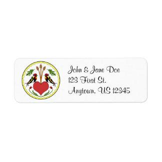 Return Address Label - Long Happy Relationship Hex