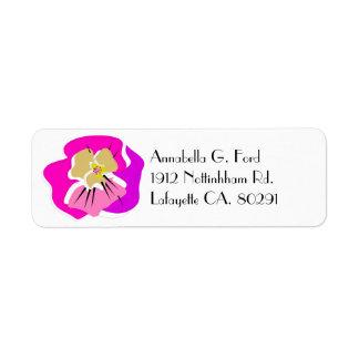 return address label ,PINK PANSY