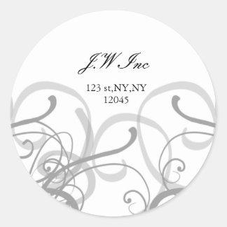Return address label round sticker