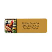 Return Address Label with Rooster Design