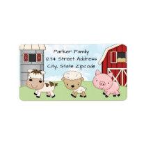 Return Address Labels │ Barnyard Farm