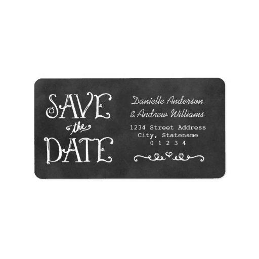 Return Address Labels | Black Chalkboard Charm