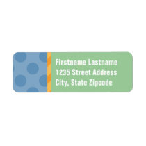Return Address Labels | Blue, Orange, & Green