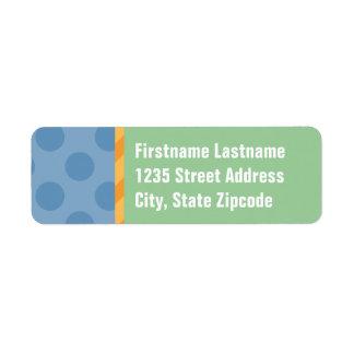 Return Address Labels | Blue, Orange, & Green