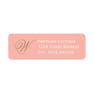 Return Address Labels | Blush Pink + Antique Gold