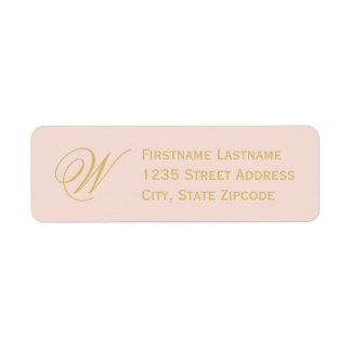 Return Address Labels   Blush Pink + Gold
