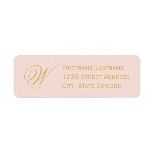 return address labels blush pink gold zazzle