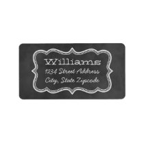 Return Address Labels | Chalkboard Design