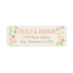 Return Address Labels | Country Florals Pink Custom Return Address Label