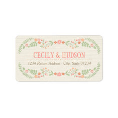 Return Address Labels | Country Florals Pink Personalized Address Label