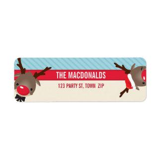 RETURN ADDRESS LABELS :: cute reindeer Return Address Label