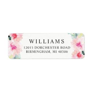 Return Address Labels   Daisy Watercolor Flowers