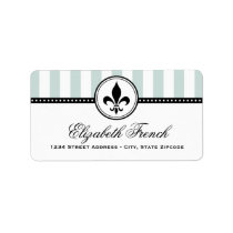 Return Address Labels | French Fleur de Lis Design