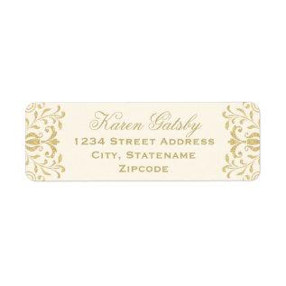 Return Address Labels | Gold Vintage Glamour at Zazzle