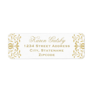Return Address Labels   Gold Vintage Glamour