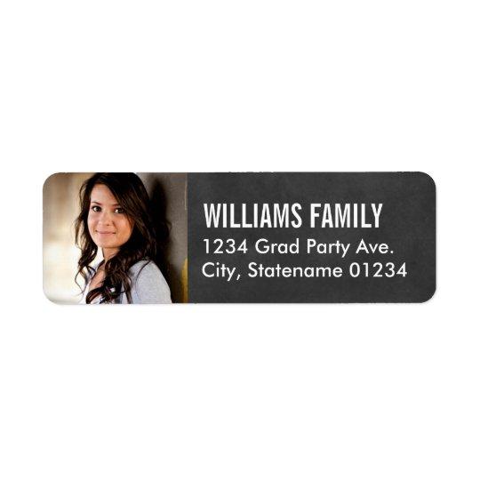 return address labels graduate photo design zazzle com