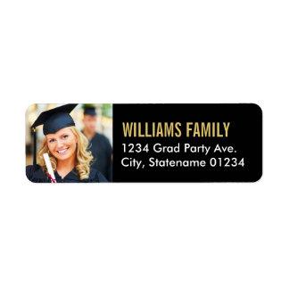 Return Address Labels | Graduation Photo Design