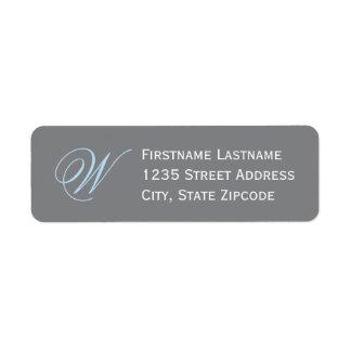 Return Address Labels | Gray, Sky Blue, White