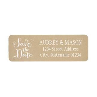 Return Address Labels | Kraft Brown