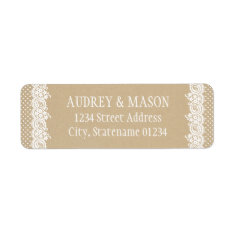 Return Address Labels | Kraft Brown