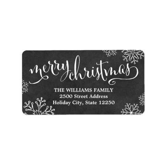Christmas Return Address Labels Free Shipping