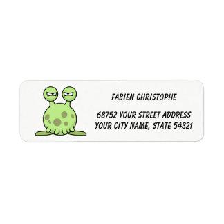 Return Address Labels. Monster. Label
