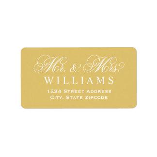 Return Address Labels | Mr. & Mrs. Custom Color