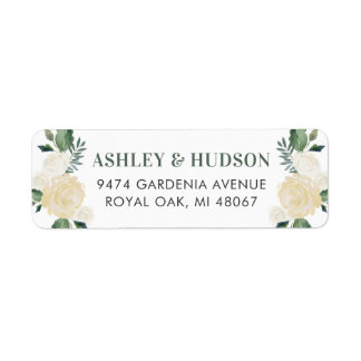 Return Address Labels | Neutral Watercolor Blooms