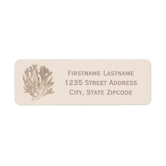 Return Address Labels | Ocean Coral Design