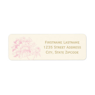 Return Address Labels   Pink Peony Design